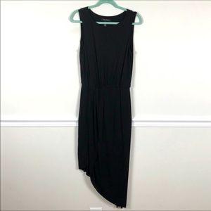 White House Black Market Black Asymmetrical Dress